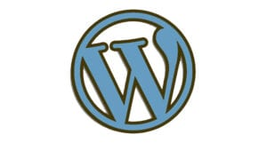 WordPress Logo Dark explaining exactly how WordPress can help your business and what the CMS is.